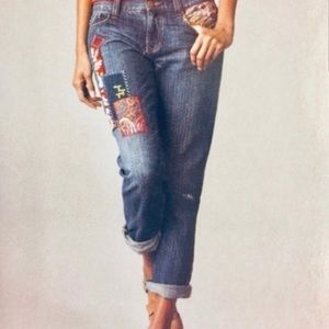 CAbi #887 Patchwork Boyfriend Jeans